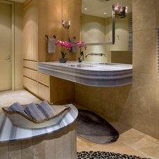 Transitional Bathroom by Cheryl Morgan Designs