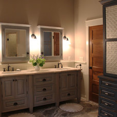 Farmhouse Bathroom by Thelen Total Construction
