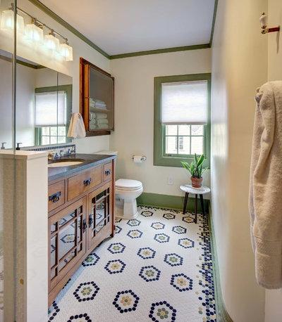 Arts & Crafts Bathroom by Tracey Stephens Interior Design Inc