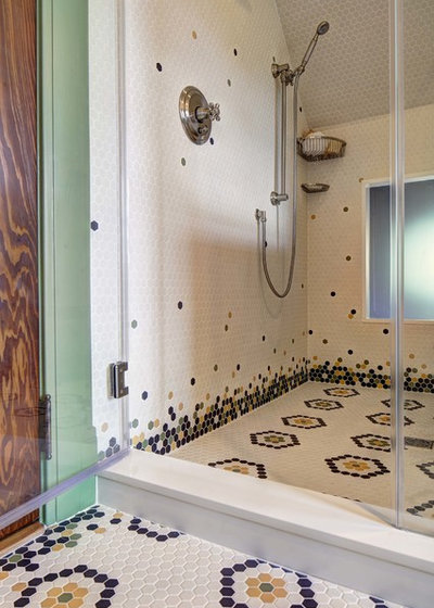 Craftsman Bathroom by Tracey Stephens Interior Design Inc