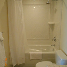 Traditional Bathroom Vintage Full Bathroom - Shower