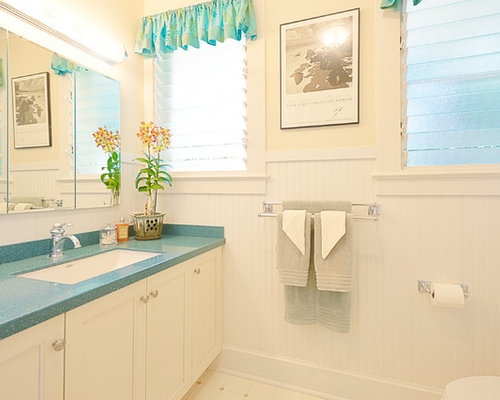 hawaii bathroom design ideas renovations photos with white cabinets