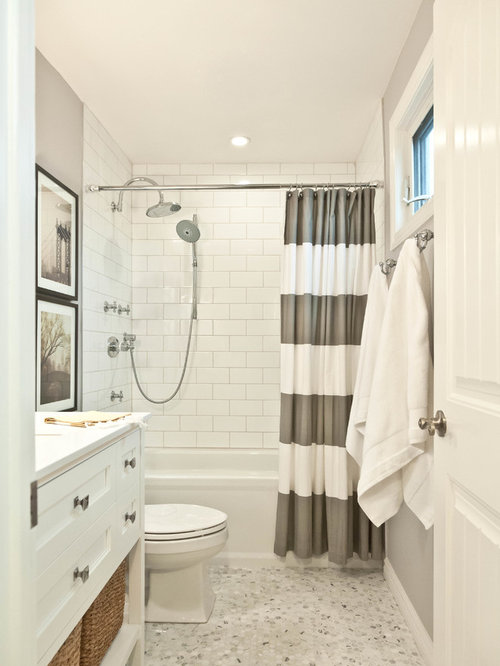 Traditional 4x8 subway tile home design ideas photos for Houzz bathrooms traditional