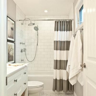 Bathroom - traditional mosaic tile floor bathroom idea in Toronto
