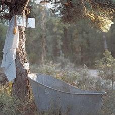 Eclectic Bathroom Vintage Metal Outdoor Shower