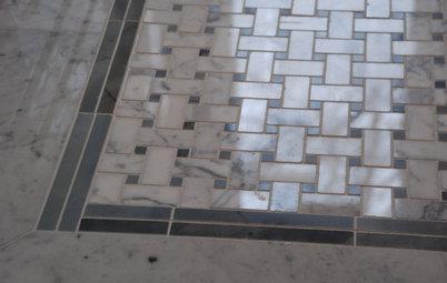 'Weave' Stone Tile for an Elegant Bath