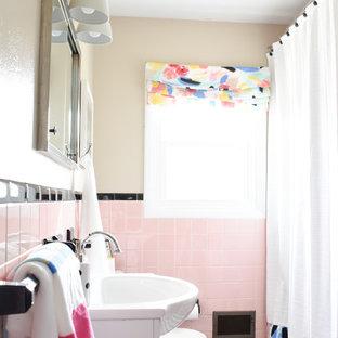 Vintage Pink Tile Bathroom