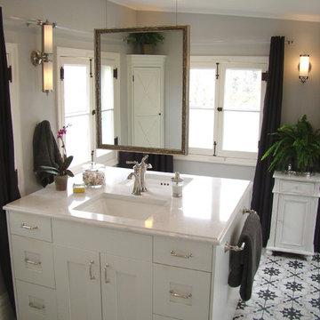 Vintage Sunroom turns into Master bath