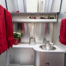 Industrial Bathroom by California Staging & Design