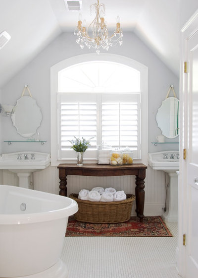 Fancy Traditional Bathroom by Brian Patterson Designs Inc