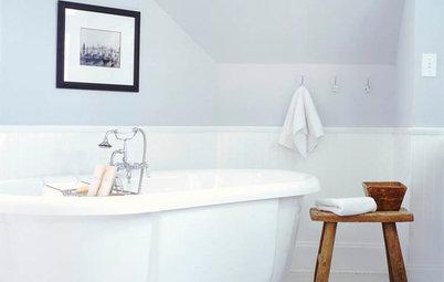 A Dark Atlanta Attic Welcomes a Light-Filled Bathroom