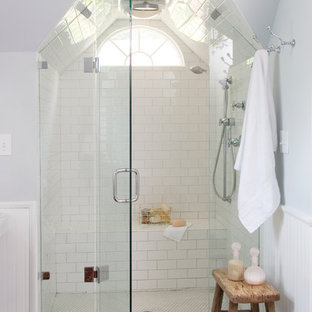 Inspiration for a timeless subway tile bathroom remodel in Atlanta