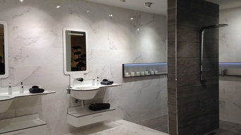 Visiting exhibition kitchens in Porcelanosa