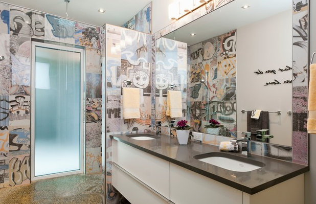 Contemporary Bathroom by NZ Builders Ltd