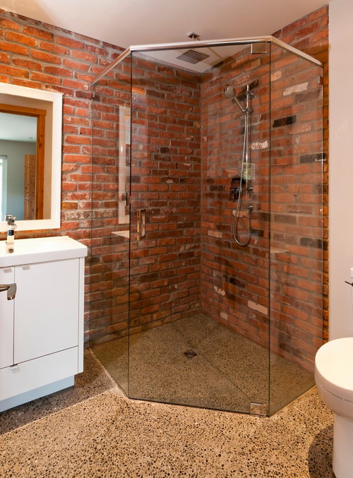 Elegant What Sealer Was Use On The Brick Wall In The Shower?