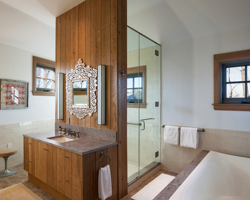 bathroom tiled showers shower layout houzz 11737