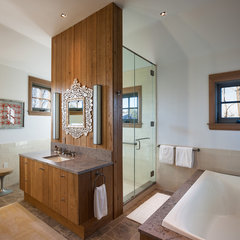eclectic bathroom by Sandvold Blanda Architecture + Interiors LLC