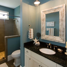 beach style bathroom by plantation building corp