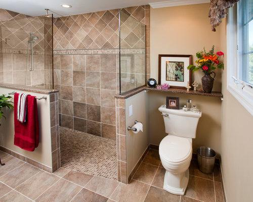 Best walk in shower half wall design ideas remodel for Bathroom fittings design ideas