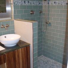 Contemporary Bathroom Walk in shower
