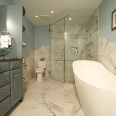 Contemporary Bathroom by Wheeler Brothers Construction