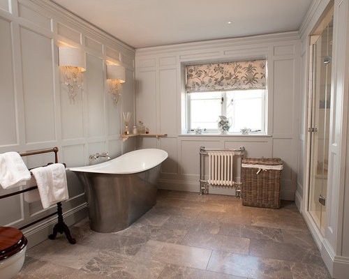 Paneled Bathroom Houzz