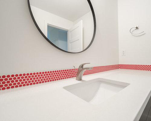 Salle d\'eau scandinave avec un sol en vinyl : Photos et idées déco ...