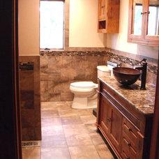 Modern Bathroom by C W Tile and Design LLC