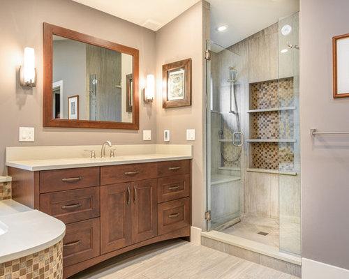 badezimmer mit eckbadewanne und duschnische design ideen beispiele f r die badgestaltung houzz. Black Bedroom Furniture Sets. Home Design Ideas