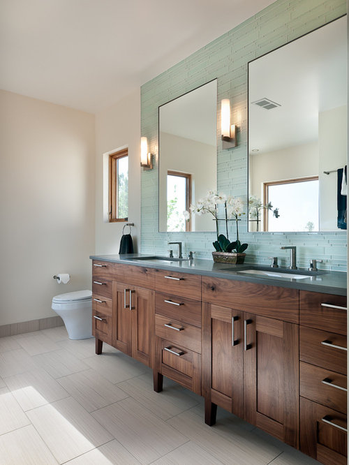 Walnut Vanity Home Design Ideas, Pictures, Remodel and Decor