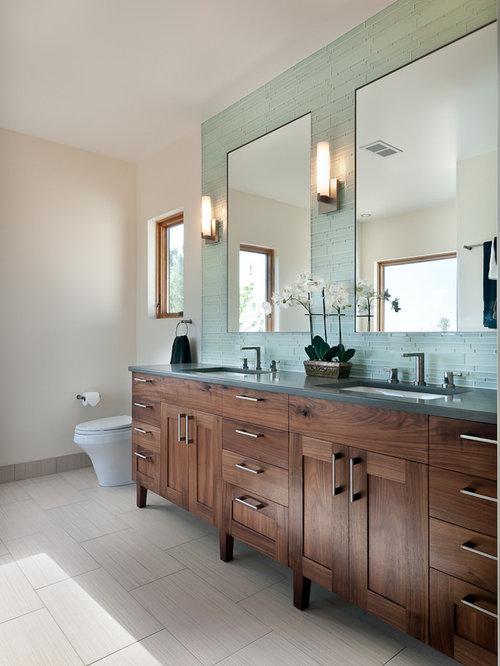 walnut bathroom vanity houzz