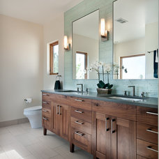 transitional bathroom by Marc Hunter Woodworking | Design