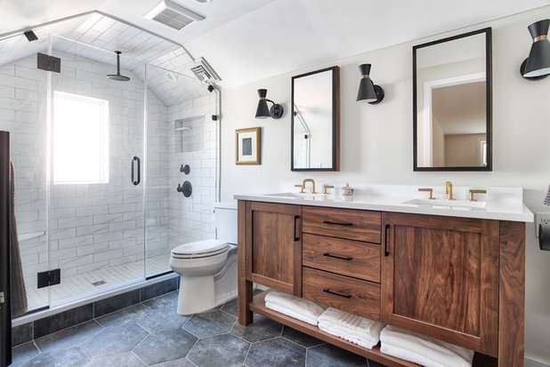Transitional Bathroom by Kitchen Intuitions