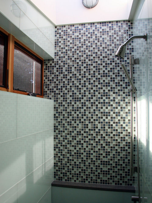 Shower Tile Ideas Designs marvelous bathroom design with charming shower tile ideas in beige also brown color Trendy Bathroom Photo In Seattle With Mosaic Tile