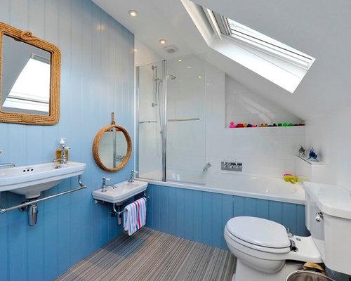 Coastal Shower Designs: Nautical Bathroom