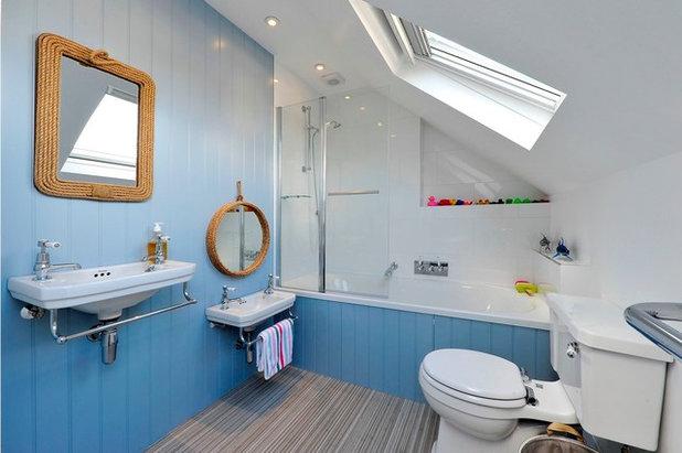 Beach Style Bathroom by PVA Developments
