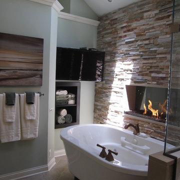 Warm & Cozy Master Bathroom
