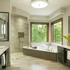 Transitional Bathroom by Glen Alspaugh Kitchens and Baths