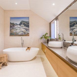 Warm Contemporary Bathroom by Du Bois Design