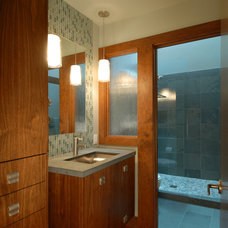 Contemporary Bathroom by Canyon Construction