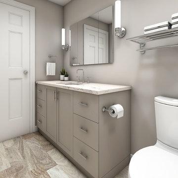 Warm Gray Bathroom