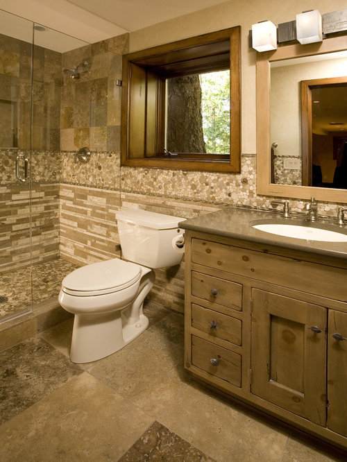 Family bathroom design ideas renovations photos with for Rustic tile bathroom ideas