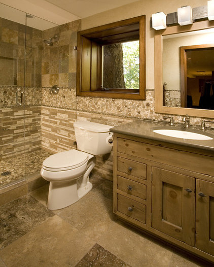 Rustic Bathroom by Signature Design & Cabinetry LLC