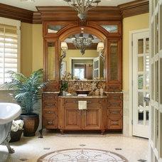 Traditional Bathroom by KARLA TRINCANELLO-CID - INTERIOR DECISIONS, INC.