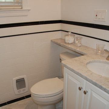 Wash, DC White Condominium Bath