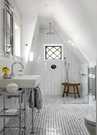 Transitional Bathroom by Giammarino and Dworkin