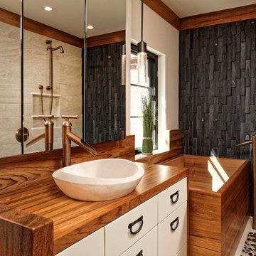 Washington DC Asian-Inspired Master Bath Design