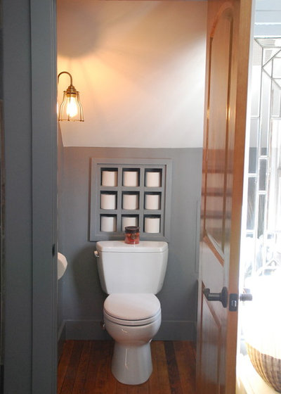 Industrial Bathroom by McMillan Builders LLC
