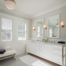 Transitional Bathroom by Sutro Architects