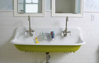 Can a bathroom sink be on an exterior wall for Bathroom design 9x7